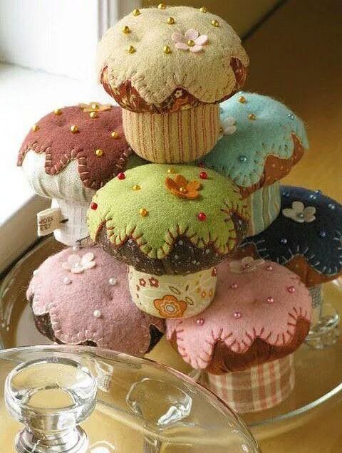Come cucire cupcake in pannolenci