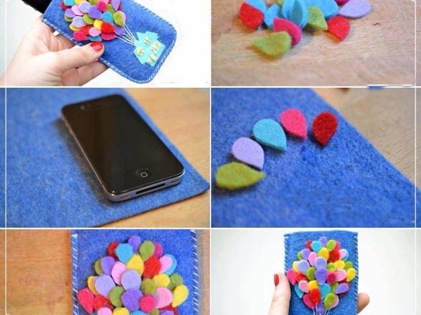 Come realizzare un porta cellulare con il feltro colorato